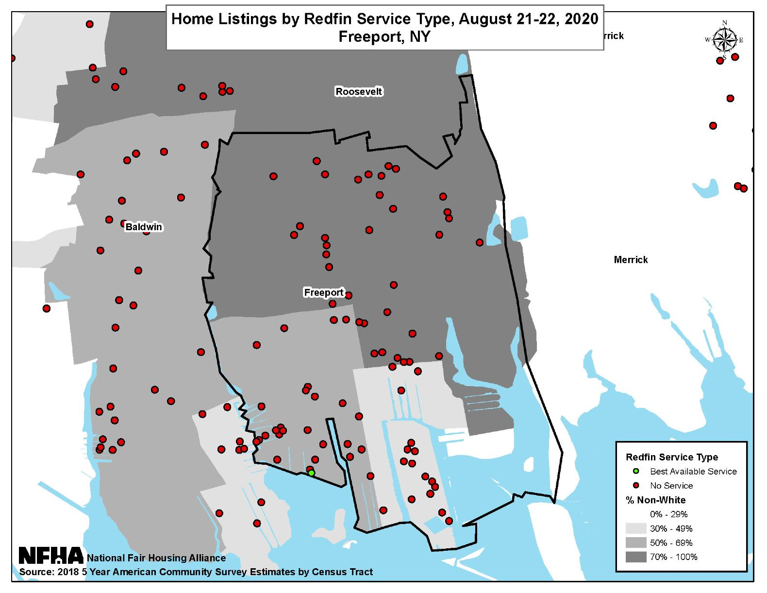 Home Listings by Redfin Service Type, Freeport, NY August 21-22, 2020